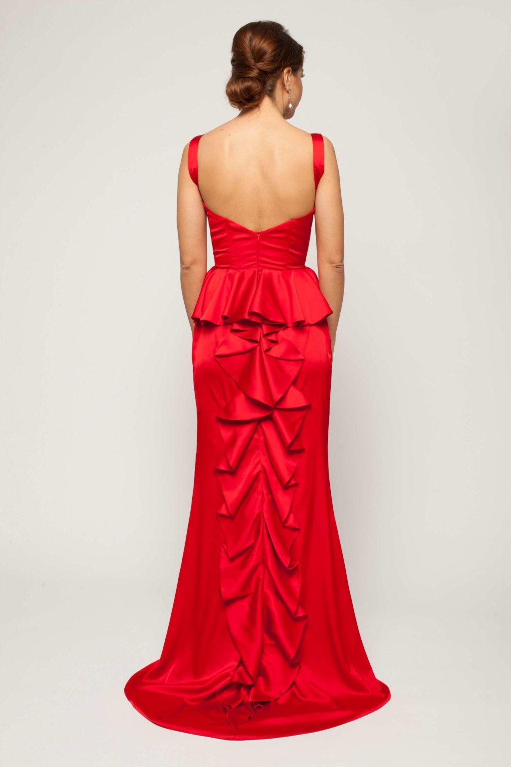 rochie rosie de seara